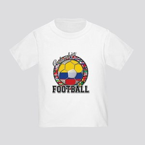 Colombia Flag World Cup Footb Toddler T-Shirt